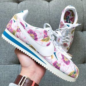 Nike Cortez flower white shoes size 6.5 hypebeast